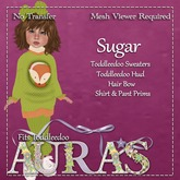 *Aura's* Sugar Outfit in Green for Toddleedoos