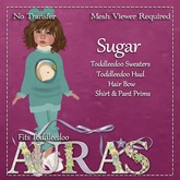 *Aura's* Sugar Outfit in Teal for Toddleedoos