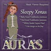 *Aura's* Sleepy Xmas Jammies in(Gingerbread) for Toddleedoos