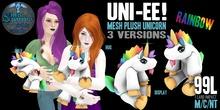 (Rainbow) Uni-ee! Mesh Plush Unicorn ~silentsparrow~