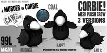 (Coal) Corbie Mesh Plush Crow ~silentsparrow~