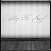 *~LT~* Daddys Little Angel Wall Art Decal