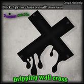 :Z.S: Dripping Wall Cross Black