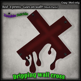 :Z.S: Dripping Wall Cross Red