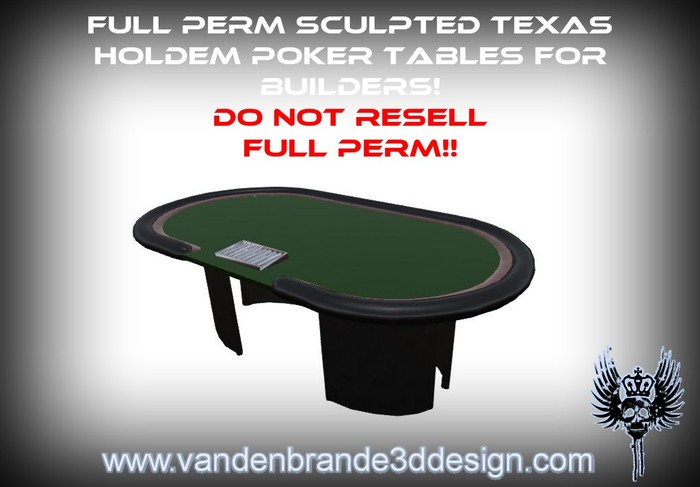 ~~ Full perm Poker texas holdem table + maps & textures