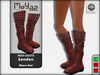 London Mesh Boots - Warm Red