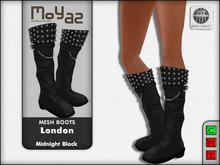 London Mesh Boots - Midnight Black