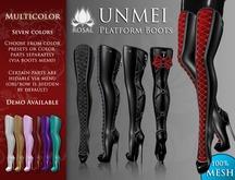 [ROSAL] UNMEI Platform Boots - Multicolor (Mesh)