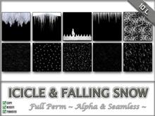 Icicles & Falling Snow textures! (seamless & alpha)