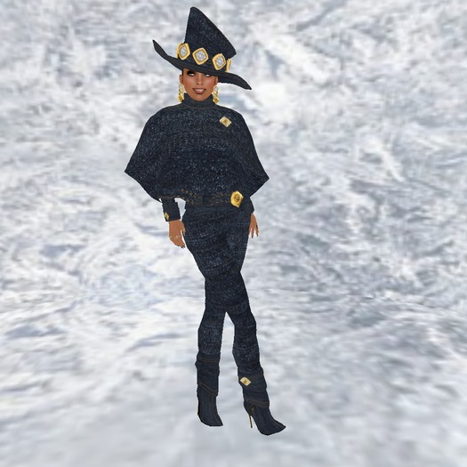 019-01-Hili-Figure Bling Bling CC-Denim Diamond Outfit w/Boots