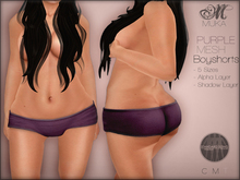 *MUKA* Boyshorts Purple (MESH)