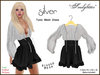 *Soulglitter* Tunic Mesh Dress - Silver & Black