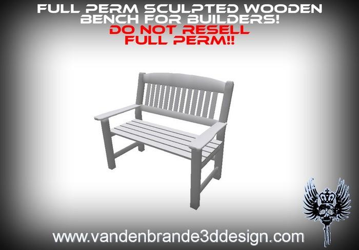 ~Full perm sculpted bench + sculptmaps For builders