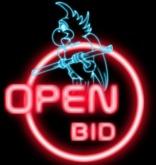 open bid Sign bird