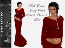 ::TorMe Designs:: Mesh Crimson Jersey Cotton Outfit
