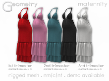 <Geometry> Luna Maternity Dress > All Colors ( rigged mesh in standard sizing )