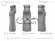 <Geometry> Soleil Maternity Dress > DEMO ( rigged mesh in standard sizing )