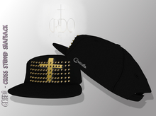 CREDO - Studded Cross Snapback {Black}