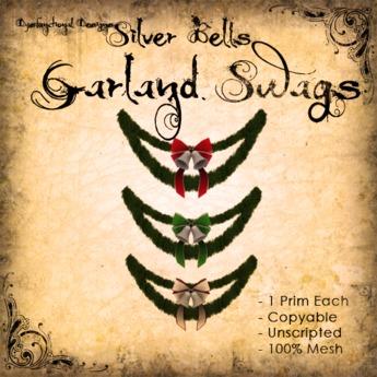[DDD] Garland Swag - Silver Bells