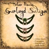 [DDD] Garland Swag - Silver Bows