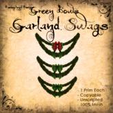 [DDD] Garland Swag - Green Bows