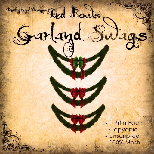 [DDD] Garland Swag - Red Bows