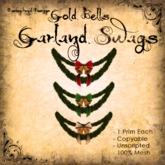 [DDD] Garland Swag - Gold Bells