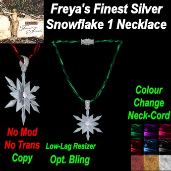 Freya's Silver Snowflake Colour Change Neckcord