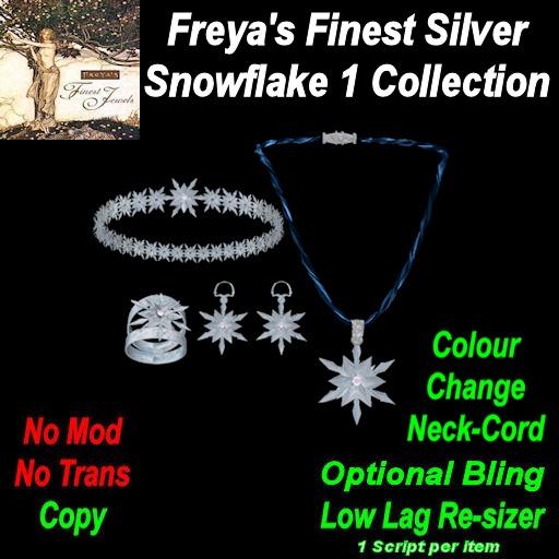 Freya's Finest Silver Snowflake & Diamond Jewelrey set