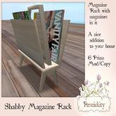 Shabby Magazine Rack
