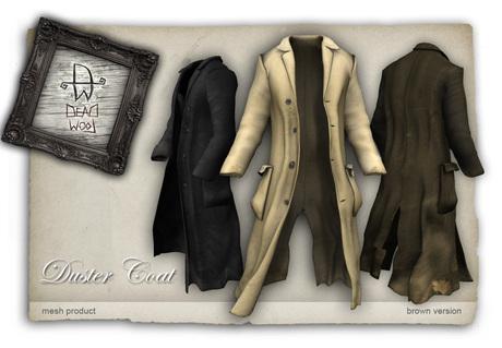[Deadwool] Duster coat mesh - brown