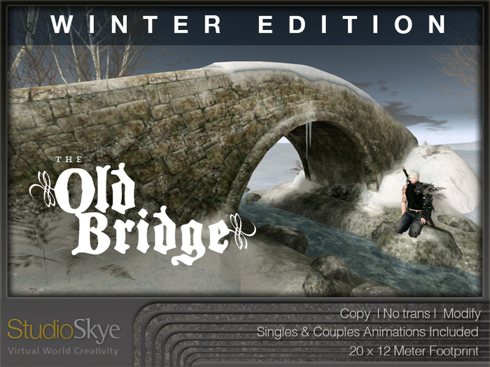 WINTER EDITION The Old Bridge from Studio Skye 100% MESH