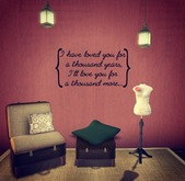 A Thousand Years Wall Decal ~ {Faith, Hope, Love}