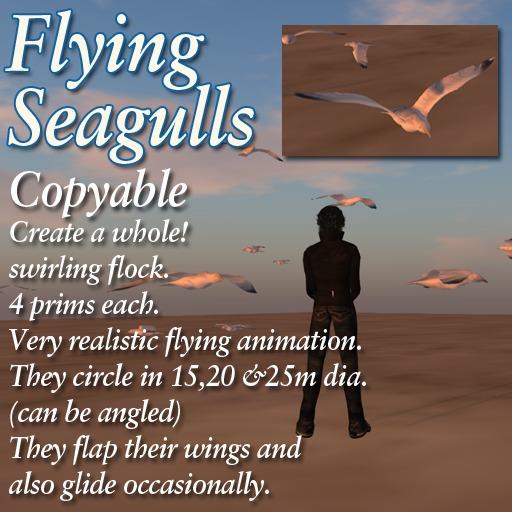 Flying Seagull Set - sea/seaside/harbour/wharf/bird/gull/seabird