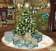 Seaside Christmas Decor Pack - Wreath, Tree Skirt, Tree and Garland w/Twinkling Lights, with 30 Mesh Presents, 5 Prims