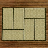 Japanese Tatami (floor mat) 6 module, green trim