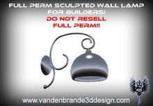 ~Full perm sculpted wall lamp + Maps for builders