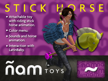 Stick Horse ÑAM with animation