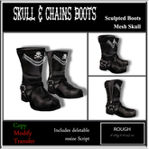 *ROUGH* Skull & Chains Boots