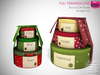 Full Perm Mesh Christmas Decoration Round Gift Boxes - Builder's Kit
