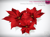 Full Perm Mesh Poinsettia Flowers - Builder's Kit