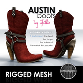 . chillie . AUSTIN boots // red (MESH)