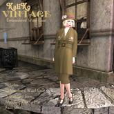 KaliKo Vintage - Winter Coat - Embroidered - Olive - Rigged Mesh