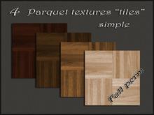 """Pack 4 parquet textures """"tiles simple"""""""
