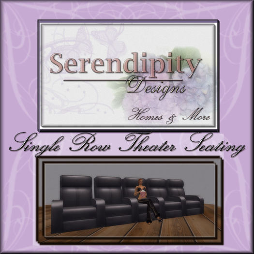 Serendipity Designs - Mesh Theater Seats - Row of 5