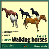 Horse set (6) moves natural with AI by Timmi Allen