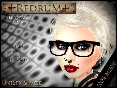 +REDRUM+ Nerd Glasses - Black