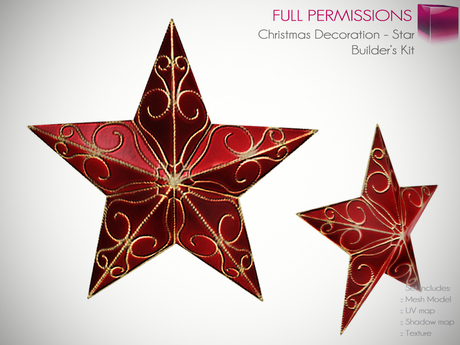 Full Perm Mesh Christmas Decoration Star - Builder's Kit