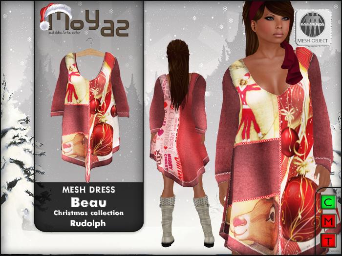 Beau Mesh Dress ~ xmas edition - Rudolph