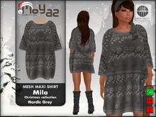 Mila Maxi Shirt ~ xmas edition - knitted grey